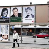 Valget til Europa-Parlamentet søndag den 26. maj præger også gadebilledet i Aalborg.