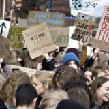 »Jeg ærgrer mig gevaldigt over manglen på et parti, der har klimaet stående øverst på den politiske agenda og samtidig vil arbejde for lavere indkomstskat,« skriver Mariann Richterhausen. Her klimastrejker skoleelever.
