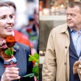 S-formand Mette Frederiksen og Venstre-statsminister Lars Løkke Rasmussen er ifølge økonomer ved at foretage en opbremsning i dansk økonomi for første gang i 25 år.
