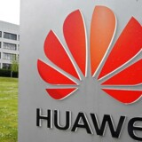 Huawei er verdens største leverandør af teleudstyr og verdens næststørste mobilproducent men har kun et lille marked i USA, hvor præsident Donald Trump nu vil gøre livet ekstra surt for giganten. Arkivfoto: Toby Melville, Reuters/Ritzau Scanpix