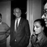 Socialdemokratiets Ritt Bjerregaard, Svend Auken (im), Mogens Lykketoft (tv) og Poul Nyrup Rasmussen (th).; The top of the Socdial democrtas group in the Danish Folketing. Mogens Lyukketoft ( left), Svend Auken, Ritt Bjerregaard ( in the middle) and Poul Nyrup Rasmussen.