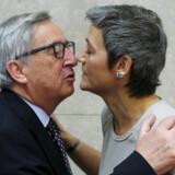 Kommissionsformand Jean-Claude Juncker havde kendt Margrethe Vestager fra møder blandt EU's økonomi- og finansministre, da han i 2014 bad den danske statsminister om at få hende som kommissær. Luxembourgeren, hvis mandat snart udløber, har forsøgt at sikre danskeren yderligere fem år. François Lenoir/Reuters