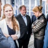 Isabella Arendt (KD), Martin Henriksen (DF) og udlændinge- og integrationsminister Inger Støjberg (V) ved TV 2s »valgfolkemøde« – et åbent debatarrangement for borgere og politkere.