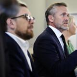 Udenrigsminister og partileder i Liberal Alliance Anders Samuelsen præsenterer bogen Ikke for mine blå øjnes skyld, der er fortsættelsen på Comeback Kid, der blev udgivet i 2013. (Arkiv). Philip Davali/Ritzau Scanpix