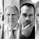 Pia Kjærsgaard, Andreas Kamm, Martin Thorborg og Julie Hassing Nielsen mener alle, der er flere gode grunde til at sætte sit kryds søndag. Fotocollage: Søren Bidstrup, Sofie Mathiassen, Maria Albrechtsen Mortensen og Ritzau Scanpix.