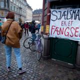 Børn og forældre fra Sjælsmark demonstrerer på Rådhuspladsen og Nytorv i København for at gøre den danske offentlighed og menneskerettighedsorganisationer opmærksomme på deres situation. Tirsdag den 15. januar 2019. (Foto: Liselotte Sabroe/Ritzau Scanpix)