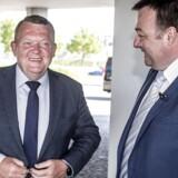 Statsminister Lars Løkke Rasmussen er ikke personen med det stærkeste netværk, hvis man spørger forfatterne til ny kortlægning af magteliten i Danmark. Det er manden til højre, formand for Dansk Metal, Claus Jensen.