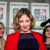 Rina Ronja Kari, Folkebevægelsen mod EUs spidskandidat, til valgfest søndag. Bevægelsen røg ud af parlamentet ved valget. Foto: Nikolai Linares/Ritzau Scanpix