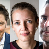 Iværksætterne André Rogaczewski, Mette Lykke og Jacob Risgaard præsenterer deres politiske ønskeseddel.