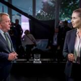 Økonomiske overvismænd advarer politikerne mod at spille hasard med dansk økonomi i den igangværende valgkamp. Her ses de to statsministerkandidater Lars Løkke Rasmussen (V) og Mette Frederiksen (S).
