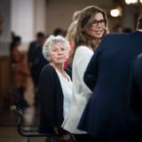 Spidskandidatmøde med blandt andre Margrete Auken (SF) på Christiansborg under europaparlamentsvalget 26. maj.