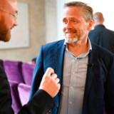 FV19: Partiformand Anders Samuelsen, Simon Emil Ammitzbøll-Bille og Joachim B. Olsen deltager når Liberal Alliance præsenterer iværksætterudspil hos iværksætter Toke Kruse, som ejer Billy og Bilagscan i København, fredag den 31. maj 2019.