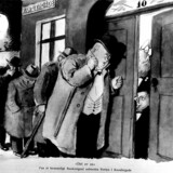 "Kanslergade-forliget 30 januar 1933. ""Det er os"" lyder teksten til Jensenius"