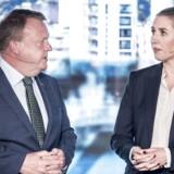 S-formand Mette Frederiksen og statsminister Lars Løkke Rasmussen (V) har lovet milliarder til velfærd. Nu advarer dansk erhvervsliv om, at Danmark står dårligt rustet til en ny finanskrise.