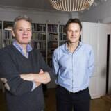 Jacob Grønlykke (tv.) og Claus Meyer ejer stadig en mindre del af Løgismose Meyers. Efter at have spillet en mindre rolle i virksomheden de seneste fire år, hvor kapitalfonden IK Investment Partners har ejet virksomheden, skal de to nu tilbage i maskinrummet.