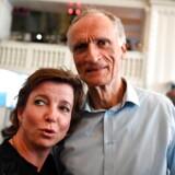 Venstres Karen Ellemann og Bertel Haarder til partiets valgfest i Landstingssalen på Christiansborg i København.