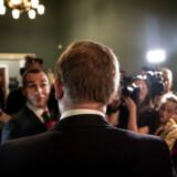 Partileder for Stram Kurs, Rasmus Paludan, på Christiansborg til folketingsvalget 2019.