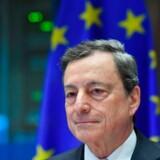ECB Præsident Mario Draghi er i fokus til eftermiddagens rentemøde. Foto: Emmanuel Dunand/AFP/Ritzau Scanpix