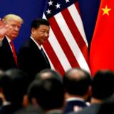 »Eksport af teknologi og software er ikke længere kun et spørgsmål om handel, det handler også om magt.« Her ses præsident Donald Trump og Kinas præsident Xi Jinping.