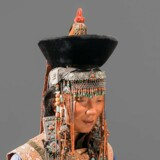 Mongolsk kvindedragt fra udstillingen.