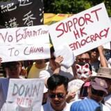 Demonstration mod den nye kontroversielle lov om udlevering.