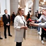 Mattias Tesfaye, Nicolai Wammen og Mette Frederiksen ankommer til regeringsforhandlinger tirsdag den 11. juni 2019 på Christiansborg. (Foto: Mads Claus Rasmussen/Scanpix 2019)