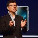 Huaweis chefstrategidirektør, Shao Yang, erkender, at det tager længere tid, før den kinesiske mobilgigant er verdens største og har slået Samsung. Foto: Hector Retamal, AFP/Ritzau Scanpix