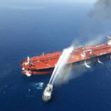 USA's udenrigsminister, Mike Pompeo, har anklaget Iran for at stå bag angrebet på et norsk- og et japanskejet tankskib i Omanbugten.