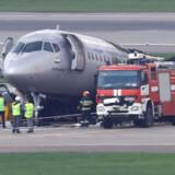 Der var 78 mennesker inklusiv besætningen på fem om bord på flyet, der skulle fra Moskva til Murmansk. 41 mennesker omkom i flybranden. (Arkivfoto) Tatyana Makeyeva/Reuters