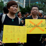 I den seneste uge har titusinder af Hongkongs indbyggere været på gaden i protest. REUTERS/Jorge Silva