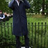 Rory Stewart fører valgkamp på en køletaske i Speaker's Corner i Hyde Park. Han har været formandsopgørets helt store chok. Men onsdag aften sluttede det. Foto: Facundo Arrizabalaga/Ritzau Scanpix