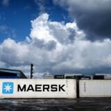 Maersk containere i Nordhavn, København mandag den 24 september 2018.