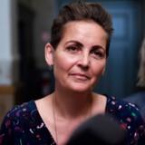 SF-formand Pia Olsen Dyhr, gruppeformand Jacob Mark og næstformand Lise Müller forlader dagens regeringsforhandlinger med Socialdemokratiet på Christiansborg, onsdag den 19. juni 2019.
