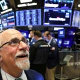 Næh, se nu dér! Det amerikanske aktiemarked rammer nye rekorder. Arkivfoto: Reuters/Brendan McDermid/Ritzau Scanpix