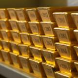 Investorerne er glade for guld i øjeblikket. Her ses et lager i den tyske centralbank, Deutsche Bundesbank.
