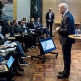 Den nu fyrede administrerende direktør i Danske Bank, Jesper Nielsen, præsenterer årsregnskab på et pressemøde i København, 1. februar 2019..
