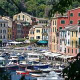 Havnen i den italienske by Portofino.