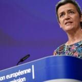 Margrethe Vestager tager nu et middel i brug, som ingen i EU har brugt i 18 år, nemlig at udstede et straksforbud til en stor virksomhed, mens en undersøgelse af konkurrencevilkårene sættes i gang. Arkivfoto: John Thys, Ritzau Scanpix