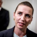 Mette Frederiksen forlader sit kontor efter regeringsforhandlinger på Christiansborg mandag den 24. juni 2019.