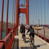 Med 10 gear på cyklen er det let både at komme op ad San Franciscos stejle gader eller over på den anden side af Golden Gate Bridge til naturområdet Marin Headlands.