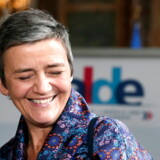 »Som de så charmerende siger i Bruxelles, så er jeg ikke død endnu.« Sådan lød det optimistisk fra Vestager i denne uge, da Mette Frederiksen havde givet hende de næste fem års mandat i Bruxelles – om det så må ende som kommissionsformand, viceformand eller kommissær. EPA/STEPHANIE LECOCQ