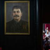 Turister på Stalin Museet i Gori, hvor Joseph Stalin blev født.