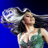 American rapper Cardi B during concert at Roskilde Festival's first evening on Wednesday 3 July 2019 in Roskilde, Denmark.. (Photo: Helle Arensbak / Ritzau Scanpix)