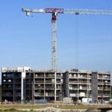 Der er bygget mange nye ejerlejligheder i København over de seneste år. Her nybyggeri af lejlighedskompleks på Teglholmen i Københavns Sydhavn.