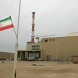Reaktor på Irans atomkraftværk i Bushehr - 1200 kilometer syd for Teheran. Iran har besluttet at overskride grænsen for berigelsen af uran, der er fastlagt i den internationale atomaftale med landet fra 2015. Behrouz Mehri/Ritzau Scanpix