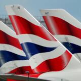 Sidste år blev kreditkortoplysnigner fra 380.000 kunder til British Airways stjålet. Mandag oplyser selskabet, at det står til en milliardstor bøde. (Arkivfoto). - Foto: Toby Melville/Reuters