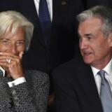 Christine Lagarde og Jerome Powell bliver nok snart kollegaer og har dermed ansvaret, hvis seddelpressen bliver sat yderligere op i fart. Der er ikke meget at grine af.
