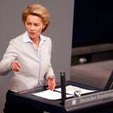 Ursula von der Leyen har holdt mange vigtige taler i den tyske forbundsdag. Tirsdag skal hun holde sit livs tale i Europa-Parlamentet, såfremt hun skal gøre sig håb om at blive ny kommissionsformand.