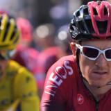 Geraint Thomas er nummer to i klassementet efter 10. etape. Marco Bertorello/Ritzau Scanpix