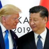 Arkivfoto: USAs præsident Donald Trump og Kinas øverste leder Xi Jinping. REUTERS/Kevin Lamarque/File Photo